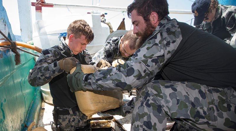 HMAS Ballarat seizes over six tonnes of narcotics in six days