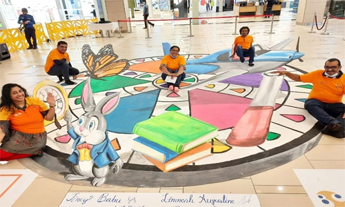 3D painting show at Oasis Mall in Juffair