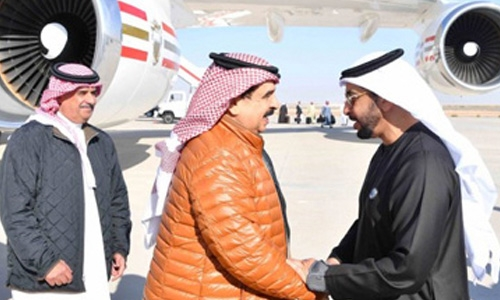 HM the King arrives in Abu Dhabi