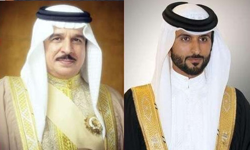 His Majesty King Hamad congratulated on HH Shaikh Nasser success