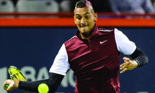 Bad boy Kyrgios fined, pulls out of doubles