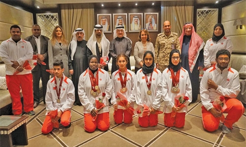 Cycling, weightlifting team hailed
