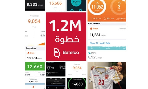 Batelco team achieves 1.2 million steps in virtual challenge to celebrate sports day