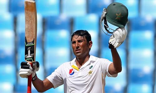 Cricket: Younis completes century as Pakistan build big lead