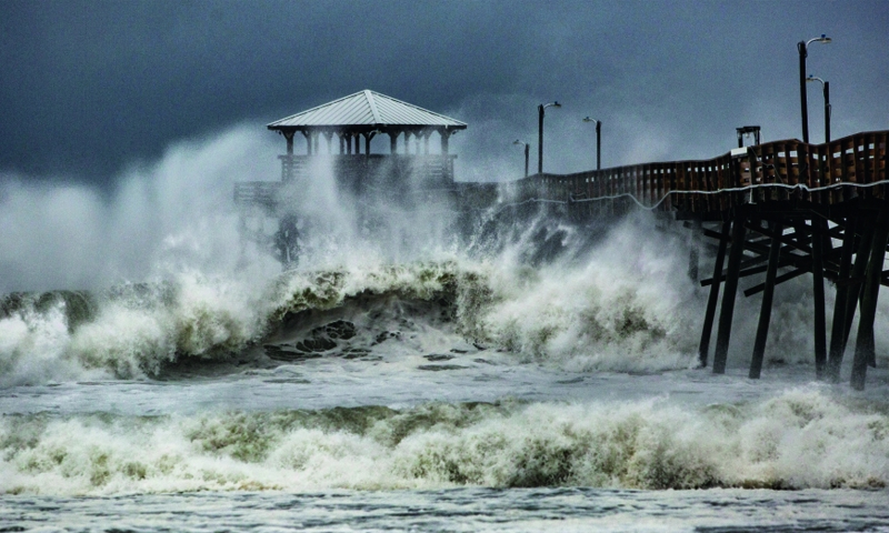 Fierce Florence starts battering east coast