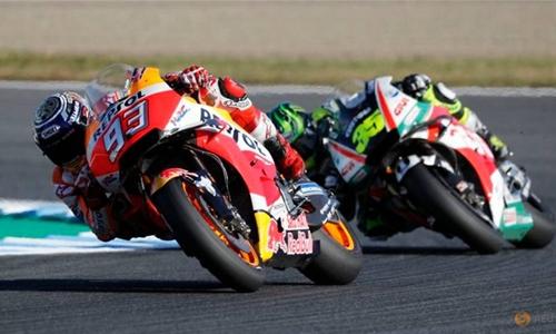 Marquez romps to fifth MotoGP title