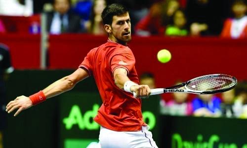Djokovic shines as Serbia, France eye Davis Cup semi-finals