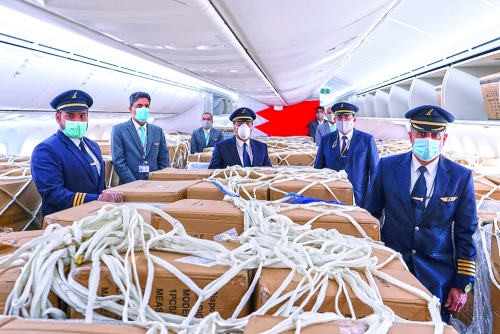 Gulf Air imports more than 80 tonnes of medical supplies in May