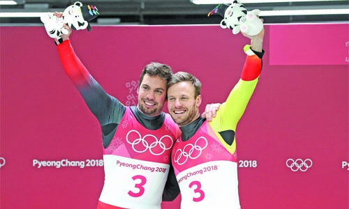Germany retain luge doubles gold