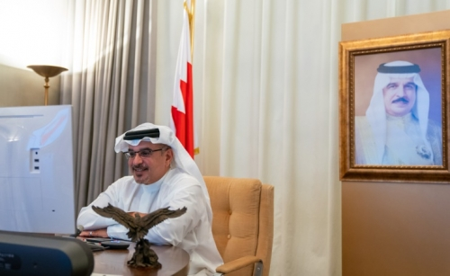 HRH the Crown Prince holds virtual meeting with US officials