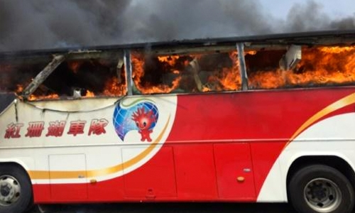 Driver in deadly Taiwan tour bus crash was drunk