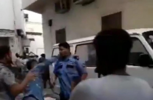 Three arrested in security guards assault