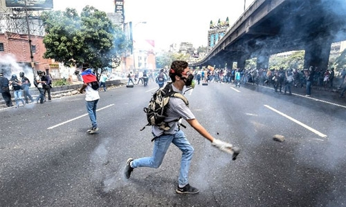 Venezuelan police break up anti-government rally with tear gas