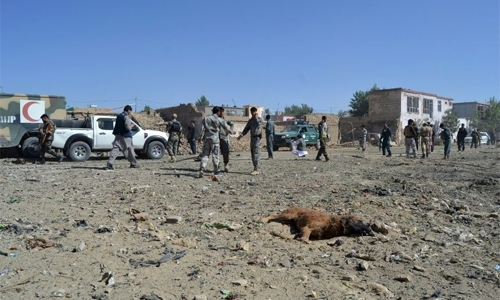 At least 12 dead in Taliban blast in Afghan city: officials