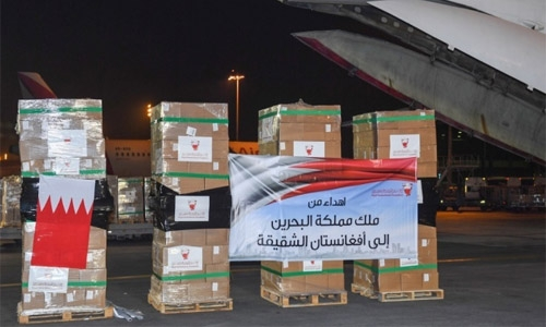 Bahrain dispatches third relief aid shipment to Afghanistan