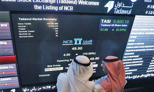 Gulf mixed, insurers help Saudi