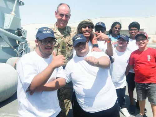 Fun day for diff-abled students aboard HMS Ledbury