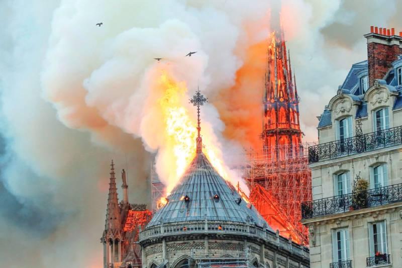 Paris disfigured as blaze engulfs Notre Dame Cathedral