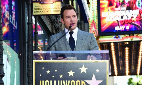 Hollywood honors TV slacker turned action hero Chris Pratt