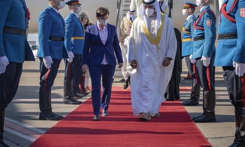 Shaikh Nasser arrives in Serbia on official visit