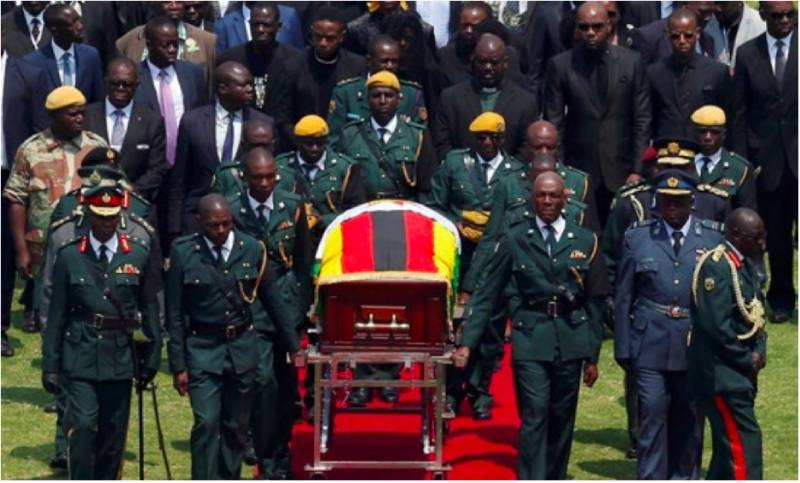 Leaders pay tribute at Mugabe funeral