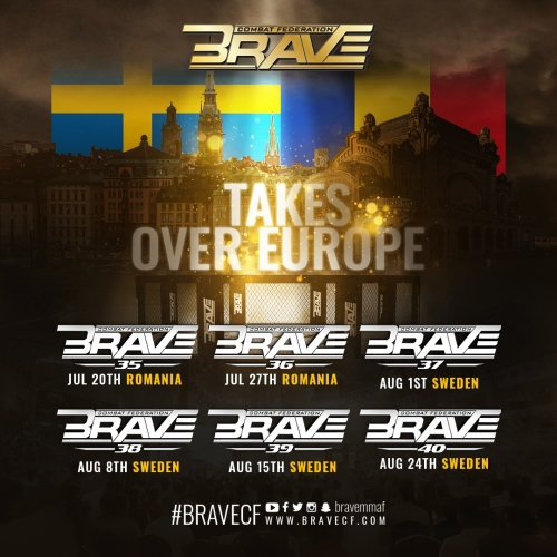 Swedish and European MMA scene revived by BRAVE CF's efforts