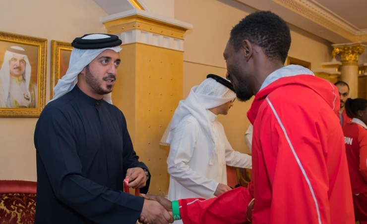 Leadership congratulated by Khalid bin Hamad on athletics achievement