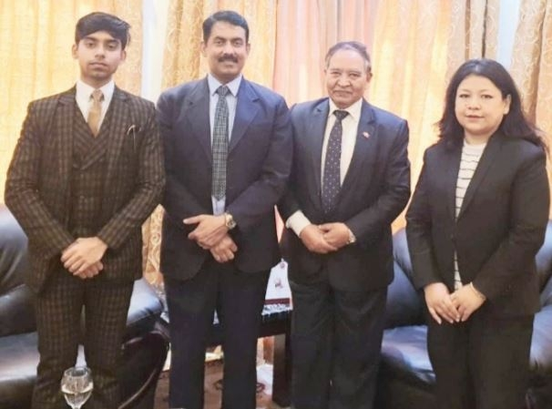 Nepalese Ambassador met Chairman of The Daily Tribune