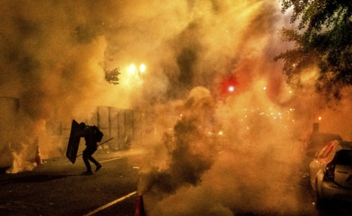 Feds use tear gas to try to disperse rowdy Portland protests