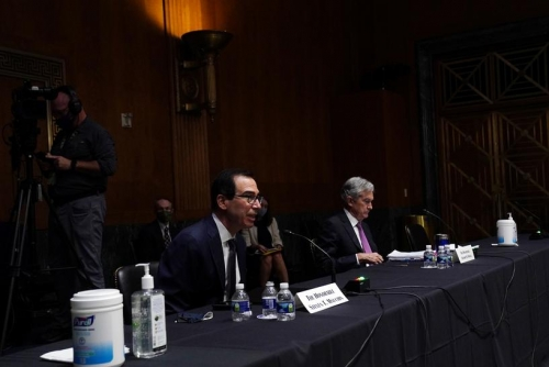 Mnuchin, Powell say some $380 billion in unused aid could help US economy