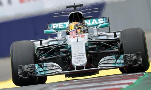 Hamilton dominates practice sessions