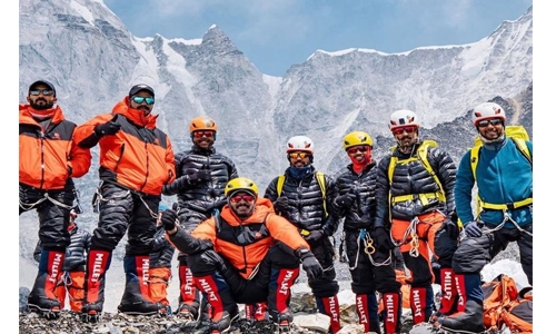 Day of fun, as Bahrain Everest team dance to the tunes of Dramyin