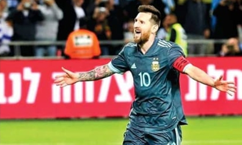 Messi pulls Argentina level against Uruguay with 70th international goal