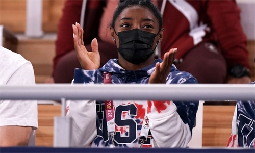 Biles thanks fans for 'love and support' over Olympic decision