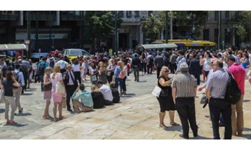 Panic as strong quake shakes Athens