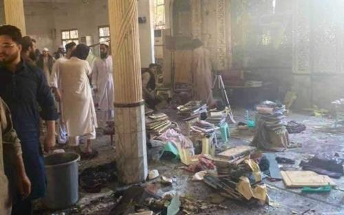 Bomb blast at Pakistan religious school kills at least seven, including children