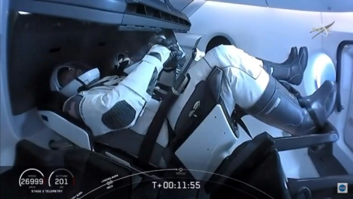 SpaceX Crew Dragon docks with Space Station