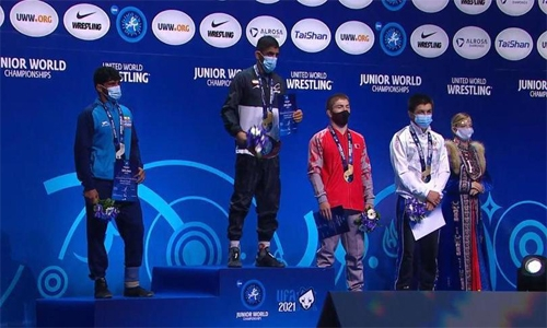 Bahrain achieves third place in World Youth Wrestling Championship