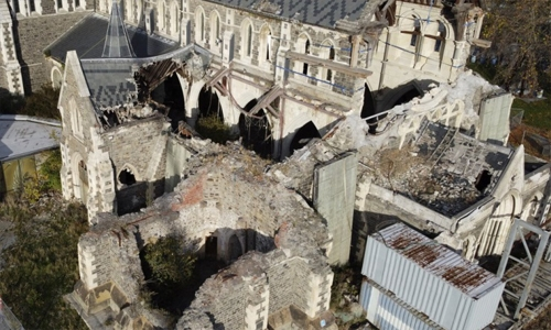 Ten years after quake Christ Church Cathedral finally rising