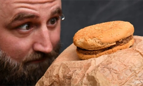 Old McDonald's: Aussie mates show off burger bought in 1995