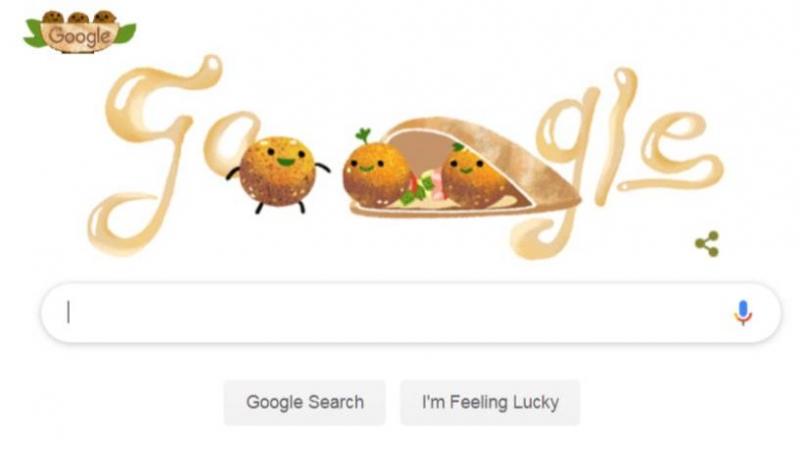 Throwing surprise, Google Doodle celebrates falafel