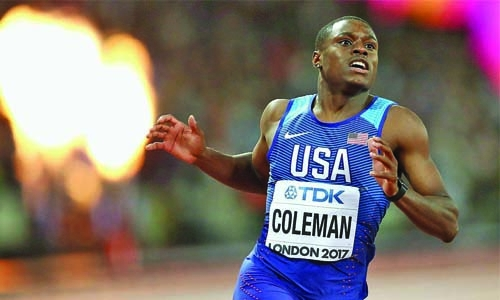 Coleman ready to take on Gay's record