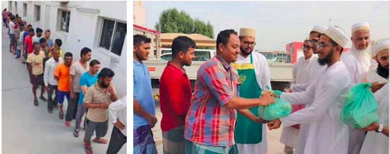 Bohra Community distributes food packages to 400 labourers