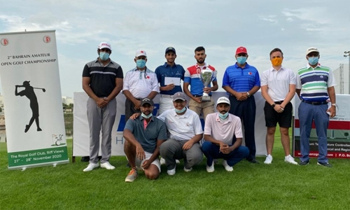 Ahmed Mohammed lifts the Golf trophy