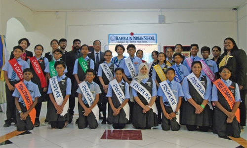 Bahrain Indian School holds investiture ceremony