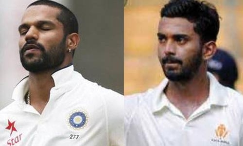 Dhawan, Rahul hit 50s for India against S. Lanka