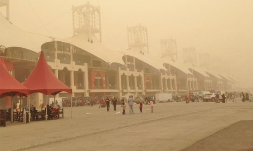 Hazy, dusty weather in parts of Bahrain