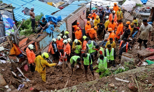 Rescuers hunt for survivors as landslide toll hits 45 in India