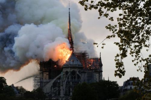 US$790m pledged to rebuild Notre-Dame