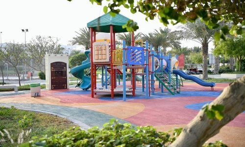 Converting park and walkway play areas into rubber floors in Bahrain